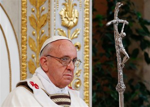 Pope Francis and Crucifix